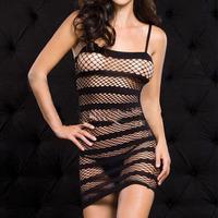 Amy2_Sexy Stocking Women Black Babydoll Mesh Net Lingerie Sleepwear Bodystocking W10