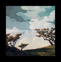 Art Painting California Plein Air Impressionist impressionism Vintage HAWKINS hand-painted wall art hand home decor canvas