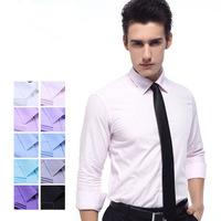free shipping Men's clothing shirt male long-sleeve autumn and winter business casual formal british style slim shirts