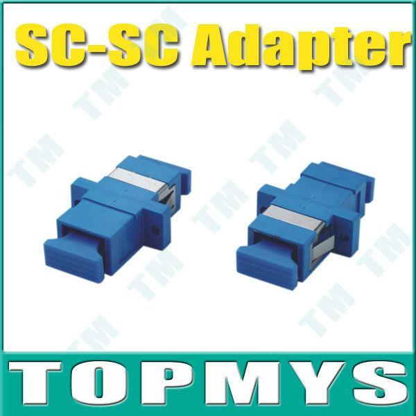 Frete Grátis, Atacadista, 50 peças / lote, adaptador SC-SC fibra óptica, manga cerâmica, monomodo, Simplex(China (Mainland))