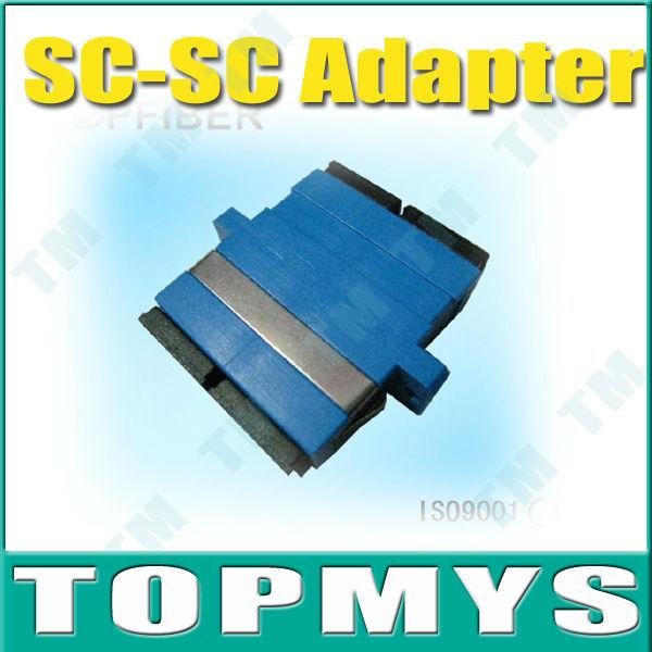 Frete Grátis, Atacadista, 50 peças / lote, adaptador SC-SC fibra óptica, manga cerâmica, monomodo, Duplex(China (Mainland))