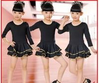 Bag mail children's Latin dance skirt dancing girls clothing LianGongFu aerobics children Latin dance new cake
