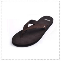 Male flip flops shoes male trend men's slip-resistant genuine leather slippers Men casual shoes