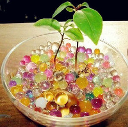 9 bags Magic Nutrient & Moisturizing Crystal Water Jelly Mud Soil Beads Balls Vase Decorator (H101)(China (Mainland))