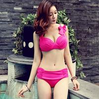 new arrival 2013 korea Steel push up big cup sexy big bikini plus size female swimwear spa retail+ wholesale