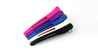 6pcs/lot Professional Salon Aluminum seamless Hair clip Open toe clip 6 colors optional