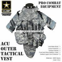 ACU OTV MOLLE Compatible Modular Military Camouflage interceptor Tactical Vest sets Combat Body Armor Vest Adjustable Size TV-01