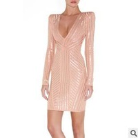 Free delivery service: 2012 new fashion bandage golden cultivate one's morality long-sleeved dress skirt