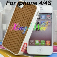 Hot Sale,Free Shipping Via DHL 300pcs Wholesale Waffle Sole Silicone Rubber Case for iPhone 4/4S