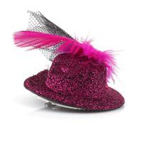 Women Children Feather Head Hair Clip Mini Top Hat Fascinator Cocktail