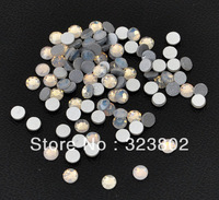 4MM Flatback Glass Rhinestone Buttons Beads White Opal Color for Nail Art / Garment / Shoes / Bag / Case Decoration -1440PCS