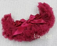 Free Shipping - Newborn Infant Baby Girls Pettiskirt Tutu Skirt NB-6M - Ruby Red(Hong Kong)