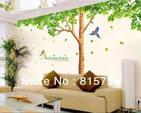 "79"" *130"" XY1098 Green Tree Wall Sticker 1set=3pc Hi-Quality Removable Wallart Living Room Decor PVC Vinyl Sofa Bacjground Paper"