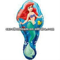 New arrive helium balloon,foil balloon 75*50cm Mermaid balloon