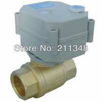 2 wires Two way electric valve BSP/NPT brass 3/4'' full port DC12V  for grey water or heating systems