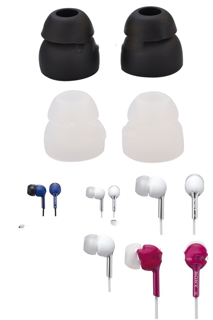 8 X Pairs Double Mp3 Ears Earphones Headphone In Ear Silica Gel Buds Tips(China (Mainland))