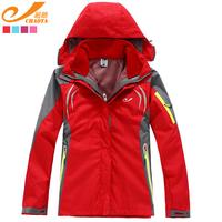 Women's twinset outdoor jacket fleece clothing liner thermal outdoor windproof sportswear Women