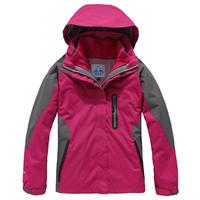 2012 polar goose outdoor jacket windproof waterproof women's twinset fleece hiking ski suit