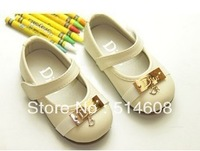#7563 Exported quality genuine leater nobility elegant female child princess non-slip shoes