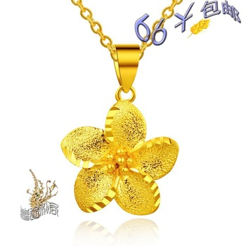 Strengthen edition sand accessories gold plated necklace 999 fine gold chain durable