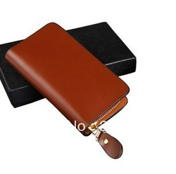 2013 hot sale men genuine leather key wallet fashionable long style keychain wallet free shipping(China (Mainland))