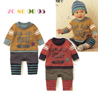 2013 autumn and winter children's clothing SENSHUKAI male newborn baby long-sleeve romper bodysuit