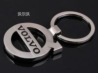 Car Accessories Volvo 3D Car Logo Silvery Metal Keyring keychain keyfob for cars