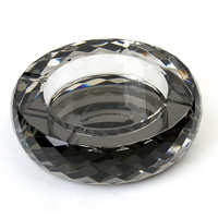 Mirror and Mysterious Home Decoration , silver coating Round100mm crystal ashtray