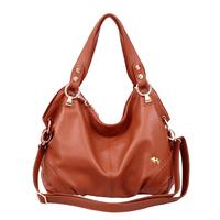 2013 cowhide women's handbag genuine leather female bags portable one shoulder cross-body bag with three
