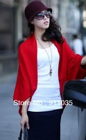 Free shipping/      Han loose knitting cardigan cape coat batwing coat