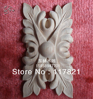 China dongyang woodcarving Angle flower applique square flower furniture applique door applique f - 0042