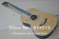 39 inch classical Acoustic Guitar natural Solid spruce Tree of life inlay fret board Abalone Binding Body