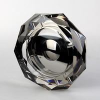 Black Mirror, sliver coating Octagonal100mm crystal ashtray, home decoration