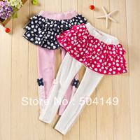 Free shipping Whosale Princess culotte pantskirt leggings tights pants girls kids baby trouser skirt 5pcs/lot