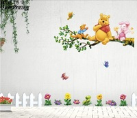 Free shipping  PVC Cartoon wall decals for child home decoration  wall paper wall sticker for kids