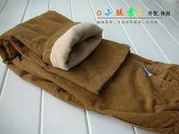Gyhdoree 100% cotton plus velvet corduroy child trousers medium-large children's clothing male child winter 2012