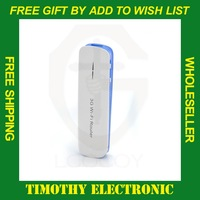 Free shipping Mini 5 in 1 3G Wireless WiFi USB Broadband Hotspot Router & 1800mAh Power Bank Portable 50 PCS/Lot #SJ024