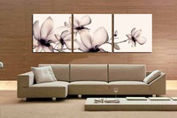 3 panel modern art grace landscape canvas painting flowers on wall picture craft pt13