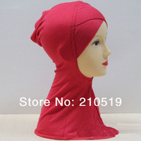 U075 BLACK COLOR CROSSOVER Fashion Cotton Inner ninja scarf; islam inner HIJAB/scarf;MUSLIM UNDERSCARF