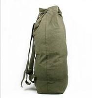 Large capacity canvas backpack mountaineering trip Bucket Bag