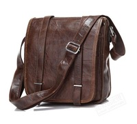 HOT SALE! Genuine Leather Men casual messenger bag tablet bag coffee vertical 7109c