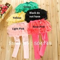 Free shipping Children's Summer tutu layered dress trousers princess leggings, fahison girl culottes pantskirt