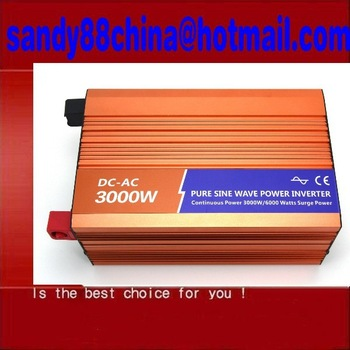 3000w pure sine wave power inverter dc 12v or 24v to ac 220v/ 230v 3kw solar inverter