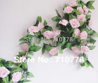 2.5M Rose silk  wedding decoration flower vine arch flower home decoration flower artificial flower