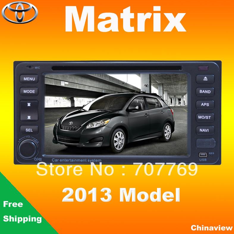 HD Car dvd head unit for Toyota Matrix 2013 with GPS navigation radio tape recorder(China (Mainland))