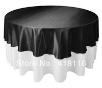 "Free shipping 10 pcs/lot 90"" black table cloth wedding tablecloths"
