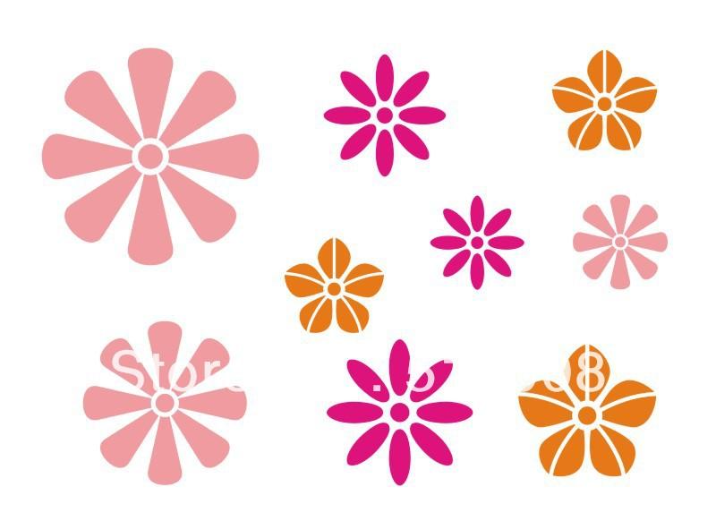 stencil muro fiori : Acquista allingrosso Online Modelli di pittura murale da Grossisti ...