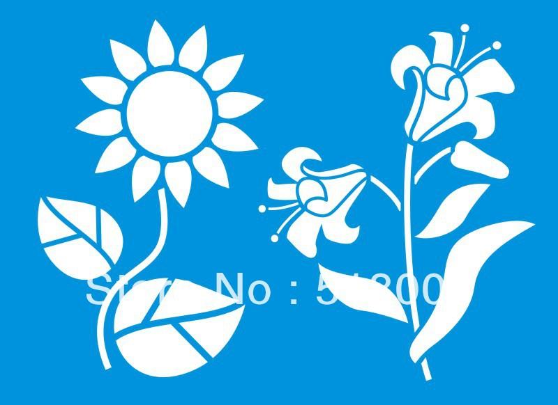 stencil muro fiori : Fiore Muro Stencil-Acquista a poco prezzo Fiore Muro Stencil lotti da ...