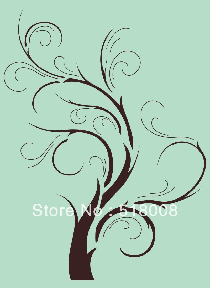 Stencil sjabloon patroon boomtak muur home decor grens aangepaste