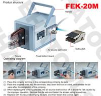 FEK-20M Pneumatic Crimping Tools crimpinig machine 25KN POWERFUL FORLARGE CONDUCTOR DIAMETERS